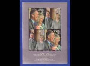 Großbritannien 2005 Blockausg. Hochzeit Charles und Camilla Mi.-Nr. Block 24 **
