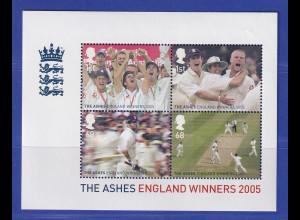 Großbritannien 2005 Blockausgabe Gewinn Cricket-Matches Mi.-Nr. Block 27 **