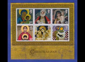 Großbritannien 2005 Blockausgabe Weihnachten Mi.-Nr. Block 29 **