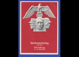 Dt. Reich Sonderpostkarte Reichsparteitag 1935 Nürnberg, gelaufen