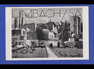 Dt. Reich Postkarte Limbach / Sachsen 1937 mit So.-O Gauparteitag