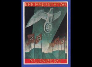 Dt. Reich Sonderpostkarte Reichsparteitag 1937 Nürnberg, beschriftet, gelaufen