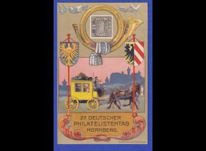 Dt. Reich Privatganzsache 27. Deutscher Philatelistentag Nürnberg 1921