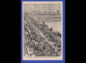 Dt. Reich 1939 Postkarte Deutsche Gebirgsjäger beim Einmarsch in Österreich