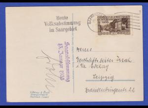 Saargebiet PK Villeroy & Boch Werk Mettlach gel. mit O Saarabstimmung 13.1.35