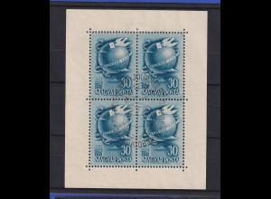 Ungarn Magyar 1948 Tag der Briefmarke Mi.-Nr. 1034 Kleinbogen gestempelt