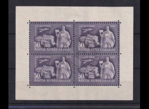 Ungarn Magyar 1949 Tag der Briefmarke Mi.-Nr. 1065 Kleinbogen gestempelt