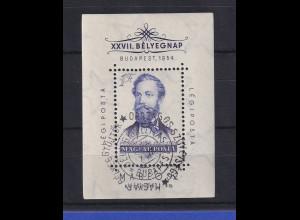 Ungarn Magyar 1954 Tag der Briefmarke Mi.-Nr. Block 24 gestempelt