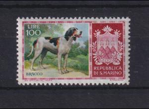 San Marino 1956 Rassehunde 100 Lire Mi.-Nr. 556 postfrisch **