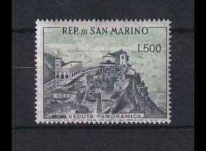 San Marino 1958 Freimarke Landschaften 500 Lire Mi.-Nr. 586 postfrisch **