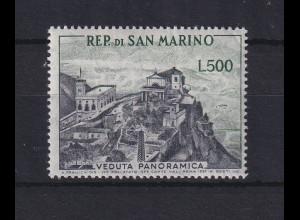 San Marino 1958 Freimarke Landschaften 500 Lire Mi.-Nr. 586 **