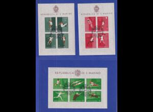San Marino 1960 Olympische Sommerspiele Rom Mi.-Nr. Block 5-7 gestempelt