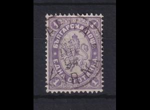 Bulgarien 1882 Freimarke Wappenlöwe 1St Mi.-Nr. 12 gestempelt