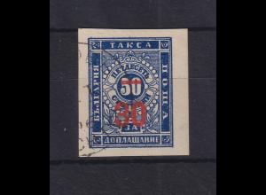 Bulgarien 1895 Portomarke mit rotem Wertaufdruck Mi.-Nr. 11 b gestempelt
