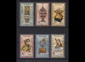 DDR 1983 Kostbare Historische Uhren Mi.-Nr. 2796-2801 zentrisch gest. HALLE