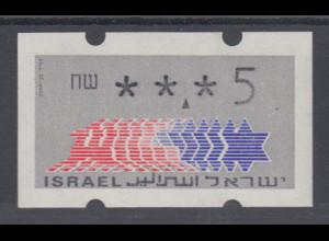Israel Klüssendorf ATM Dauerausgabe ohne Aut.-Nr. 1.Papier Mi.-Nr. 2.1