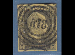 Altdeutschland Preußen Mi-Nr. 4a gestempelt mit Nr.-O 578 Hamburg