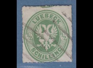 Altdeutschland Lübeck Mi.-Nr. 8A gestempelt