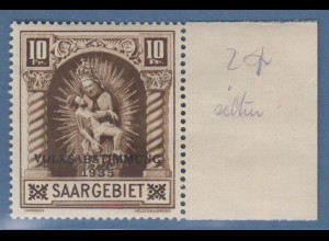 Saar 10 Fr. Madonna Blieskastel mit Auddr. VOLKSABSTIMMUNG 1935 Mi.-Nr. 194 **