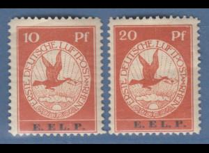 Deutsches Reich Flugpost Rhein-Main E.EL.P Mi.-Nr. V und VI kpl. * ANSEHEN !