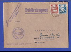 DDR 1951 Behördenpost mit Propaganda-O Vorwärts zu Weltfestspielen Jugend Berlin