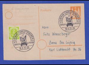 Bizone-GA mit ZF mit So.-O BERLIN-CHARLOTTENBURG Autosalon 6.-16.9.51