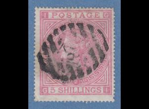 Großbritannien 1867 Victoria 5 Shillings Mi.-Nr. 35 gestempelt