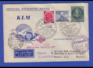 Berlin KLM Erstflug Amsterdam Mexico City 25.10.52 Privat GA-Glocke mit ZF