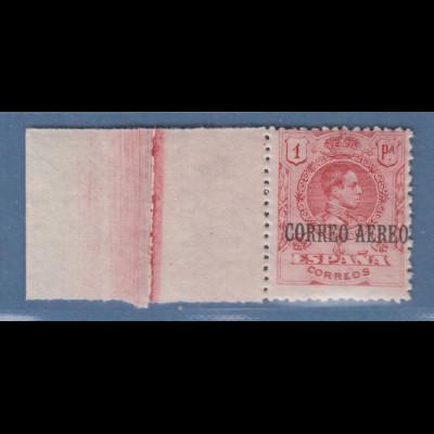 Spanien 1901-04 König Alfonso XIII. 1 Pta CORREO AEREO Mi.-Nr. 254 postfrisch **
