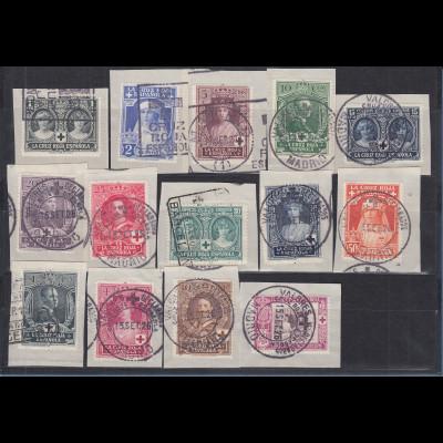 Spanien 1926 Rotes Kreuz Königliche Familie Mi.-Nr. 298-311 Satz kpl. gest.