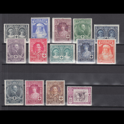 Spanien 1926 Rotes Kreuz Königliche Familie Mi.-Nr. 298-311 Satz kpl. *