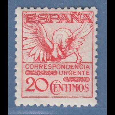 Spanien 1929 Eilmarke ohne Kontrollnummer Mi.-Nr. 442 II B ungebraucht (fast **)