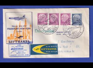 Lufthansa-Erstflugbeleg LH 420 vom 1.4.60 von Frankfurt nach New York