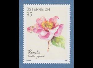 Österreich 2021 Treuebonus-Marke Kamelie **