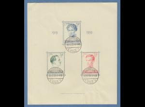 Luxemburg 1939 Blockausgabe Großherzogin Charlotte Mi-Nr. Block 3 mit ET-Tages-O