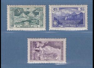 Schweiz 1914 Gebirgslandschaften Mi.-Nr. 121-123 Satz kpl. ungebraucht *