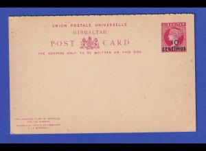 Gibraltar Ganzsache Doppelkarte 10 Centimos Mi.-Nr. P13 ungebraucht