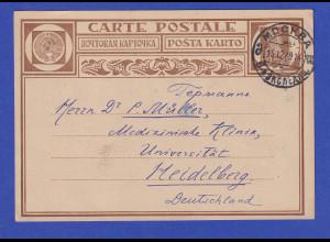 Sowjetunion Ganzsache 7K Mi.-Nr. P26 1929 aus Moskau gelaufen nach Heidelberg