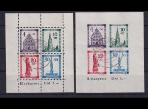 Französische Zone Baden Block 1 A/B beide mit Falsch-Stempel !