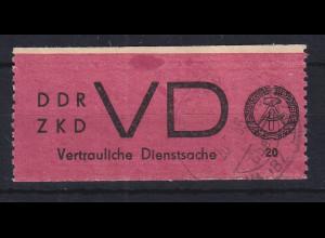 DDR Dienstmarken D für vertrauliche Dienstsachen Mi.-Nr. 1A gestempelt