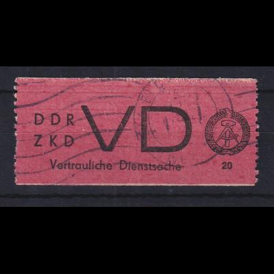 DDR Dienstmarke D für vertrauliche Dienstsachen Mi.-Nr. 1A gestempelt HALLE