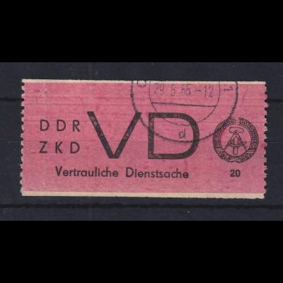 DDR Dienstmarke D für vertrauliche Dienstsachen Mi.-Nr. 1A gestempelt