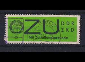 DDR Dienstmarke ZU auf gewöhnlichem Papier, Mi.-Nr. E 2x gest. BORNA