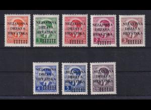 Kroatien / Hrvatska 1941 1. Ausgabe Mi.-Nr. 1-8 ungebraucht *