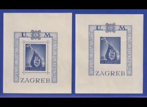 Kroatien / Hrvatska 1942 Ustascha-Jugend Mi.-Nr. Blocks 3 A und B postfrisch **