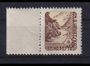 Kroatien / Hrvatska 1945 Feldpostmarke Landschaft Mi.-Nr. 2 postfrisch **