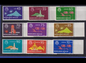Niederländische Antillen 1973 Freimarken Mi.-Nr. 254-62 Satz 9 Werte **