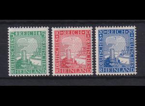 Dt. Reich 1925 Rheinland 1000 Jahre deutsch Mi.-Nr. 372-374 postfrisch **