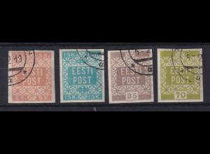 Estland 1918/19 Freimarken Mi.-Nr. 1-4 gestempelt