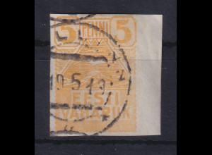 Estland 1919 Freimarke Möwen Mi.-Nr. 5 gestempelt